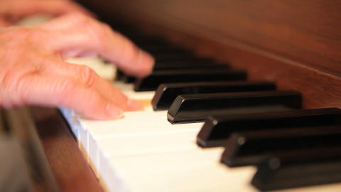 Piano Hands Stock Video Footage