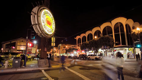 Fishermand's Wharf. Time Lapse Stock Video Footage