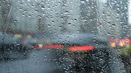 city traffic in rain Stock Video Footage