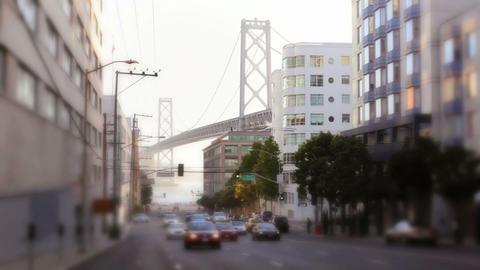 Traffic and Bay Bridge Stock Video Footage