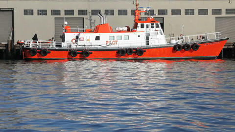 Pilot Boat stock footage