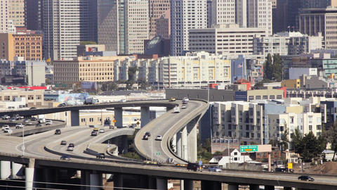 San Francisco Freeway Stock Video Footage