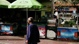 Beijing China Street 11 stylized filmlook Stock Video Footage