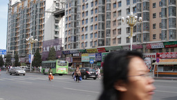 Beijing China Traffic 02 neutral high dynamic color Stock Video Footage