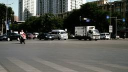 Beijing China Traffic 06 stylized filmlook Stock Video Footage