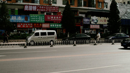 Beijing China Traffic 10 stylized filmlook Stock Video Footage