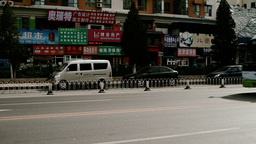 Beijing China Traffic 10 stylized filmlook Stock Video Footage