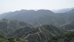 Great Wall in China 01 neutral high dynamic color Stock Video Footage