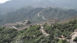 Great Wall in China 02 neutral high dynamic color Stock Video Footage