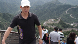 Great Wall in China 04 neutral high dynamic color Stock Video Footage