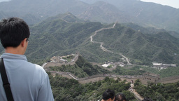 Great Wall in China 06 neutral high dynamic color TILT DOWN Stock Video Footage