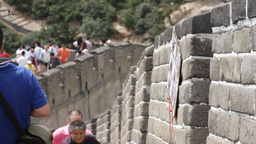 Great Wall in China 08 neutral high dynamic color DOLLY Stock Video Footage