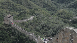 Great Wall in China 12 neutral high dynamic color Stock Video Footage