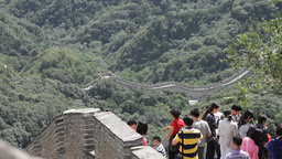 Great Wall in China 18 neutral high dynamic color DOLLY Footage