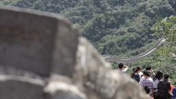 Great Wall in China 18 neutral high dynamic color DOLLY Stock Video Footage