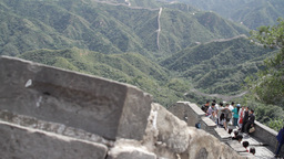 Great Wall in China 20 neutral high dynamic color Stock Video Footage