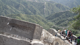 Great Wall in China 20 neutral high dynamic color Footage