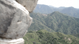 Great Wall in China 22 neutral high dynamic color DOLLY Stock Video Footage