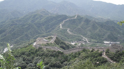 Great Wall in China 24 neutral high dynamic color Stock Video Footage