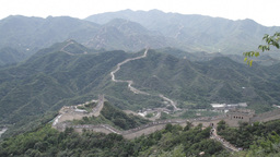 Great Wall in China 28 neutral high dynamic color Stock Video Footage