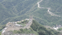 Great Wall in China 30 neutral high dynamic color Stock Video Footage