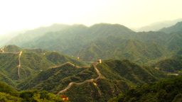 Great Wall in China 32 stylized artsoft diffusion Stock Video Footage