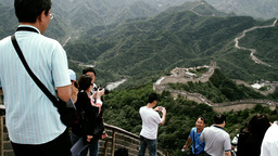 Great Wall in China 35 stylized filmlook Stock Video Footage