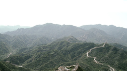 Great Wall in China 37 stylized filmlook PAN Stock Video Footage