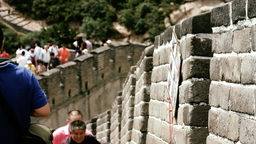 Great Wall in China 39 stylized filmlook DOLLY Stock Video Footage