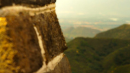 Great Wall in China 41 stylized artsoft diffusion DOLLY Stock Video Footage
