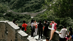 Great Wall in China 43 stylized filmlook Stock Video Footage