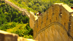 Great Wall in China 45 stylized artsoft diffusion DOLLY Stock Video Footage