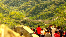 Great Wall in China 47 stylized artsoft diffusion DOLLY Stock Video Footage