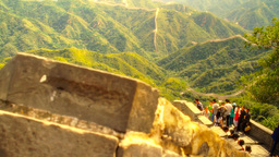 Great Wall in China 49 stylized artsoft diffusion DOLLY Stock Video Footage