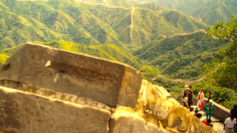 Great Wall in China 51 stylized artsoft diffusion DOLLY Footage