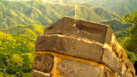 Great Wall in China 51 stylized artsoft diffusion DOLLY Stock Video Footage