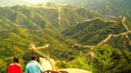 Great Wall in China 57 stylized artsoft diffusion DOLLY Stock Video Footage