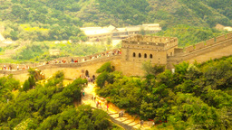 Great Wall in China 59 stylized artsoft diffusion Stock Video Footage