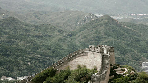Great Wall in China 66 stylized filmlook Stock Video Footage