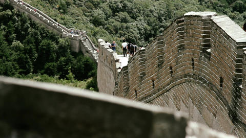 Great Wall in China 72 stylized filmlook DOLLY Stock Video Footage