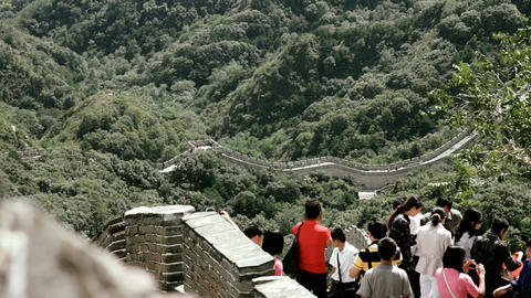 Great Wall in China 74 stylized filmlook DOLLY Stock Video Footage