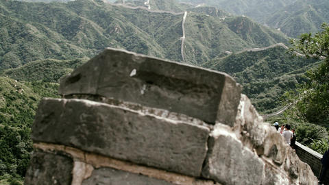 Great Wall in China 76 stylized filmlook DOLLY Stock Video Footage