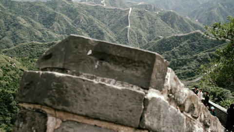 Great Wall in China 78 stylized filmlook DOLLY Stock Video Footage