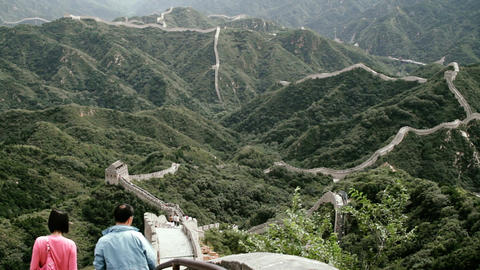 Great Wall in China 82 stylized filmlook DOLLY Stock Video Footage