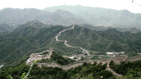 Great Wall in China 84 stylized filmlook Stock Video Footage