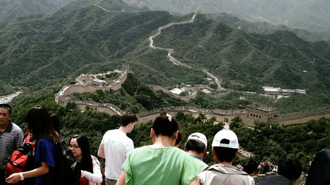 Great Wall in China 87 stylized filmlook DOLLY Stock Video Footage