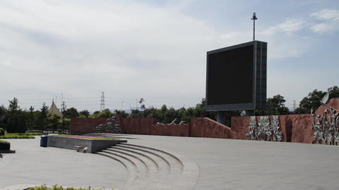 Olympic Games Location in Beijing China Bigscreen Square 03 neutral high dynamic color PAN Footage