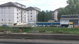 Through Train Window Switzerland 05 Stock Video Footage