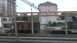 Through Train Window Switzerland 05 Stock Video Footage