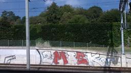 Through Train Window Switzerland 07 Stock Video Footage